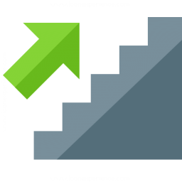 Stairs Up Icon 256x256