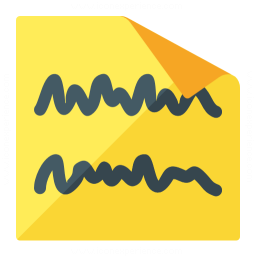 Sticky Note Text Icon 256x256
