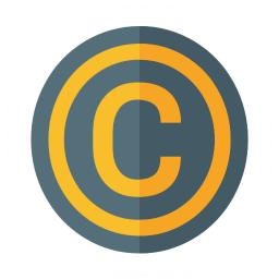 Symbol Copyright Icon 256x256