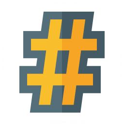 Symbol Hash Icon 256x256