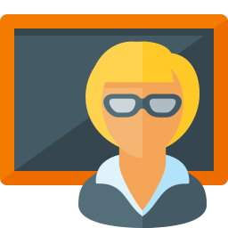 Teacher Blackboard Icon 256x256