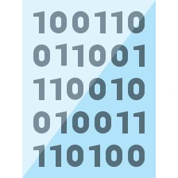 Text Binary Icon 256x256