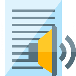 Text Speaker Icon 256x256