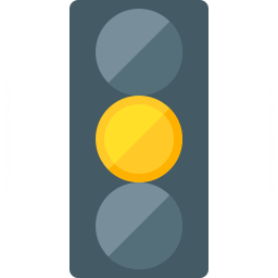 Trafficlight Yellow Icon 256x256