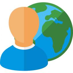 User Earth Icon 256x256