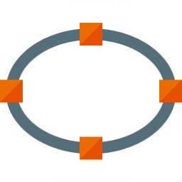 Vector Ellipse Icon 256x256