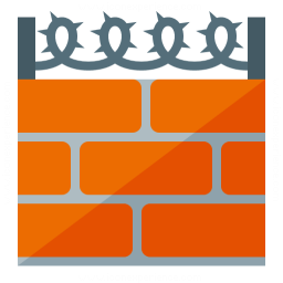 Wall Barbed Wire Icon 256x256