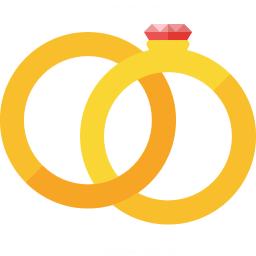 Wedding Rings Icon 256x256