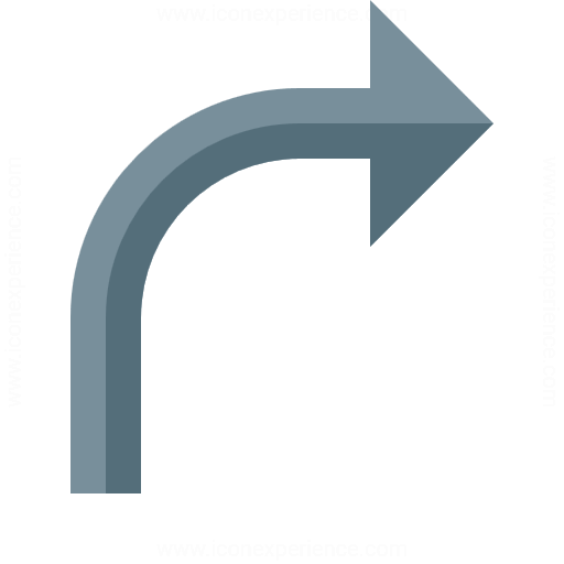 Arrow Curve Right Icon