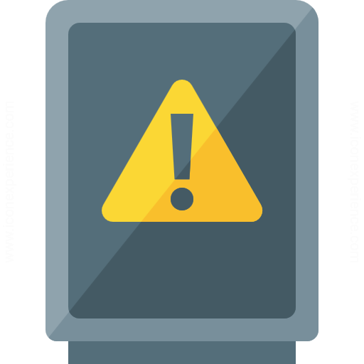 Cabinet Warning Icon