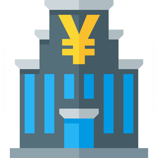 Central Bank Yen Icon