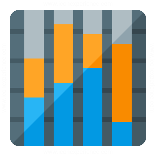 Chart Column Stacked Icon