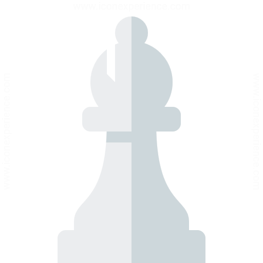 Chess Piece Bishop White Icon