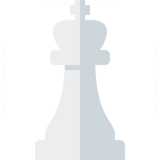 Chess Piece King White Icon