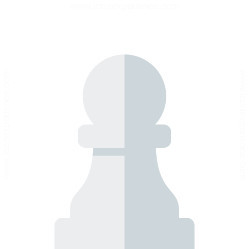 Chess Piece Pawn White Icon