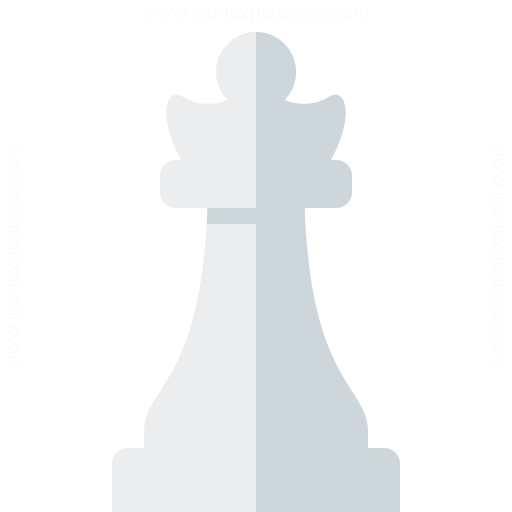 Chess Piece Queen White Icon