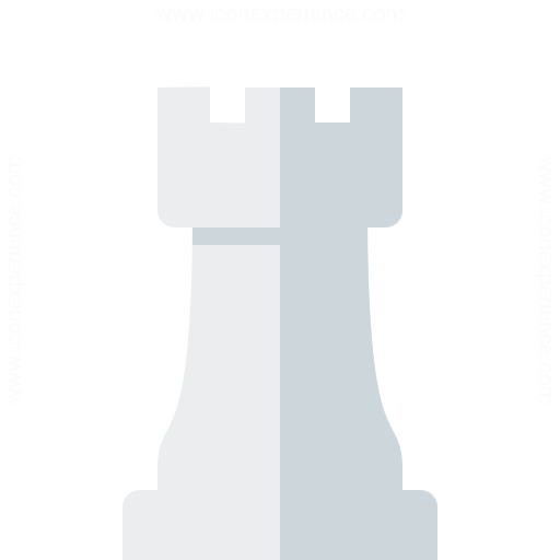 Chess Piece Rook White Icon