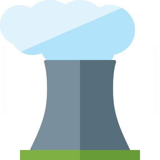 Cooling Tower Smoke Icon