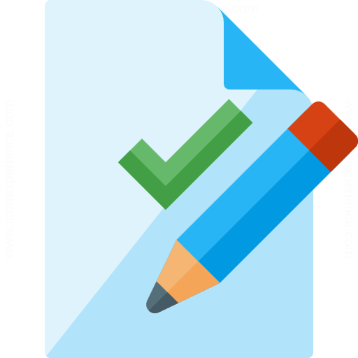Document Check Edit Icon