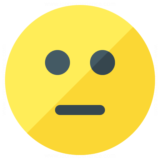 Emoticon Straight Face Icon