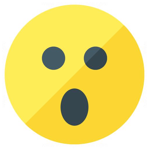 Emoticon Surprised Icon
