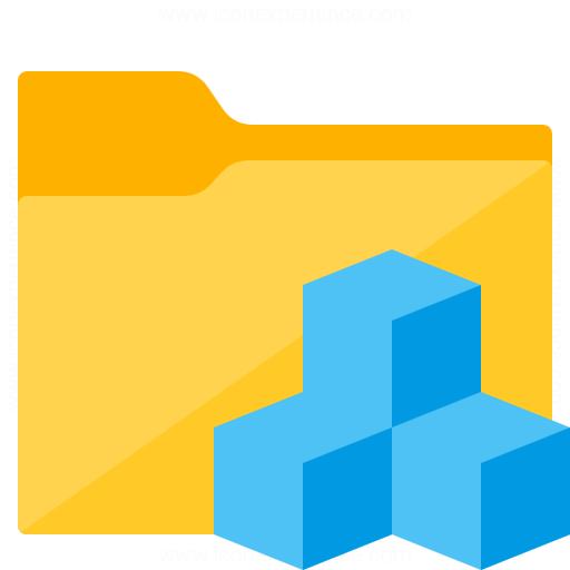 Folder Cubes Icon