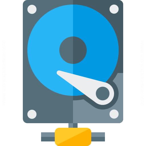 Hard Drive Network Icon
