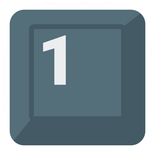 Keyboard Key 1 Icon