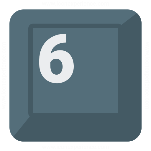 Keyboard Key 6 Icon
