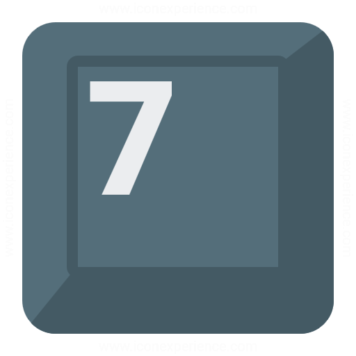 Keyboard Key 7 Icon