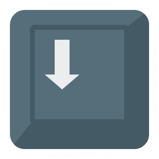 Keyboard Key Down Icon