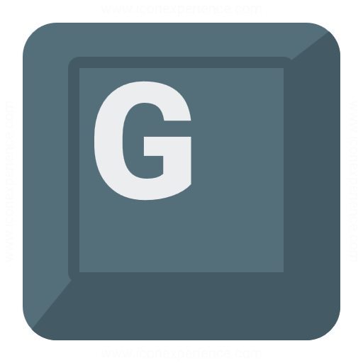 Keyboard Key G Icon