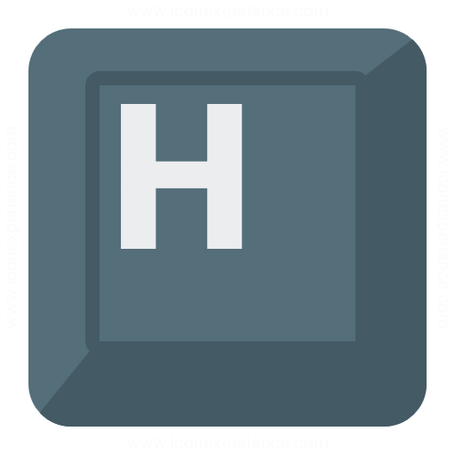 Keyboard Key H Icon