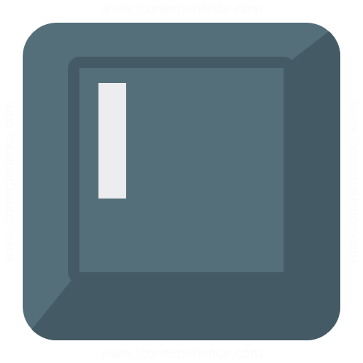 Keyboard Key I Icon