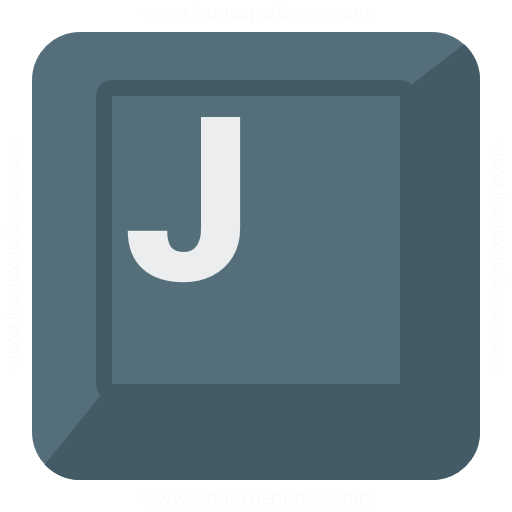 Keyboard Key J Icon