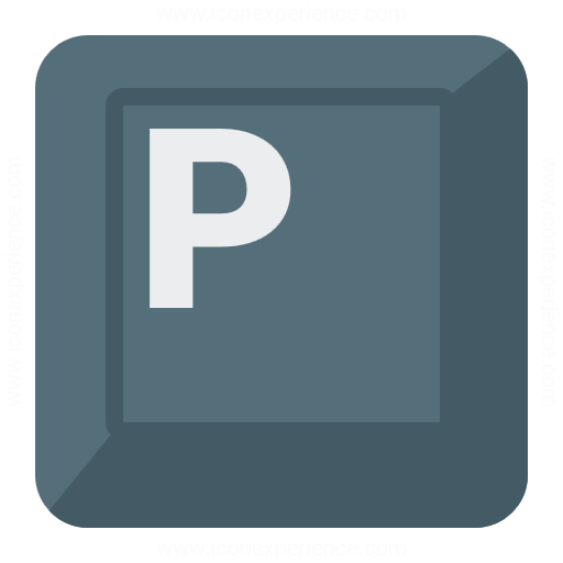 Keyboard Key P Icon