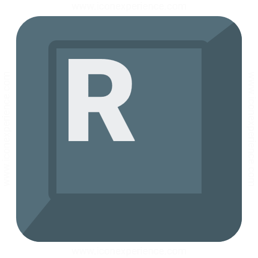 Keyboard Key R Icon