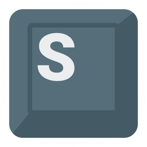 Keyboard Key S Icon