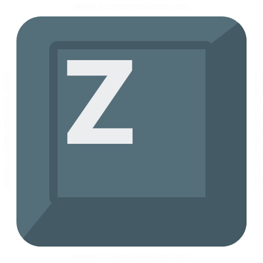 Keyboard Key Z Icon