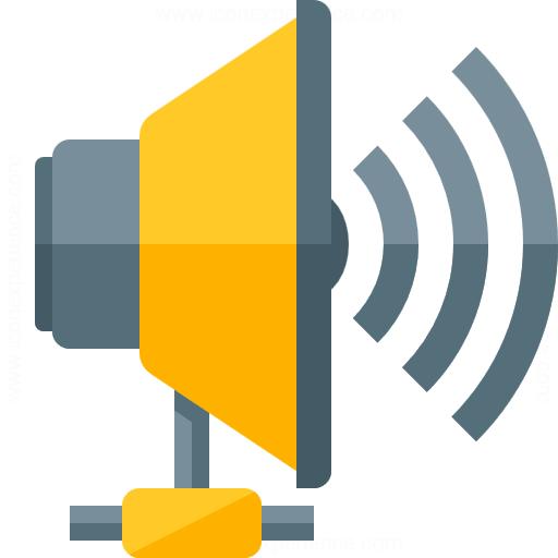 Loudspeaker Network Icon