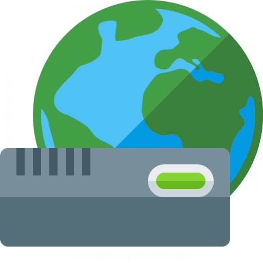 Modem Earth Icon