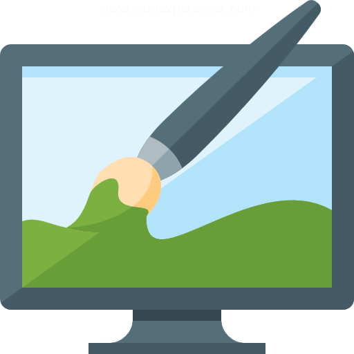 Monitor Brush Icon