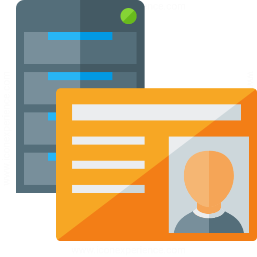 Server Id Card Icon