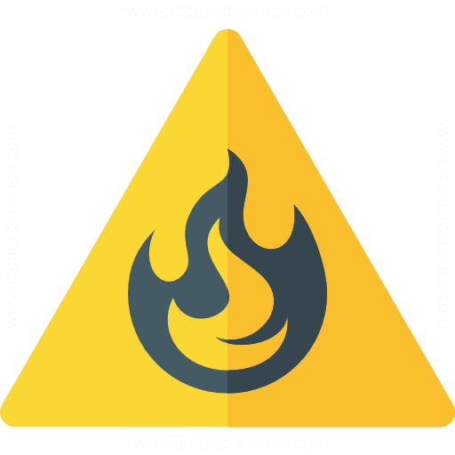 Iconexperience G Collection Sign Warning Flammable Icon