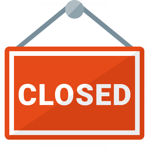 Signboard Closed Icon