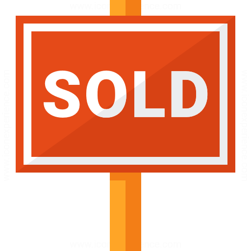 Signboard Sold Icon