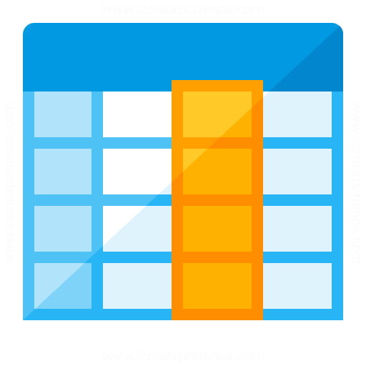 Spreadsheet Column Icon