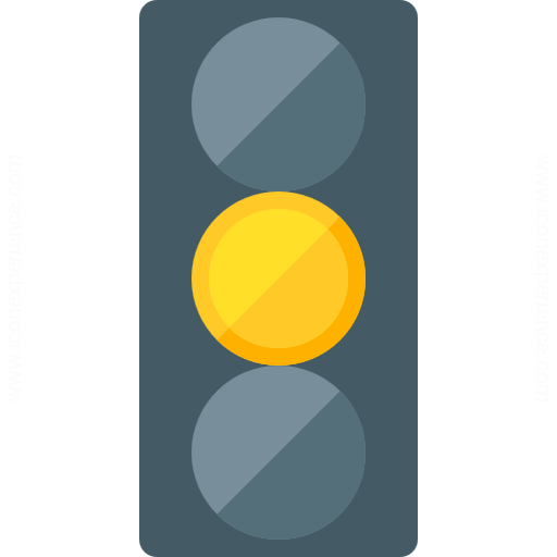 Trafficlight Yellow Icon
