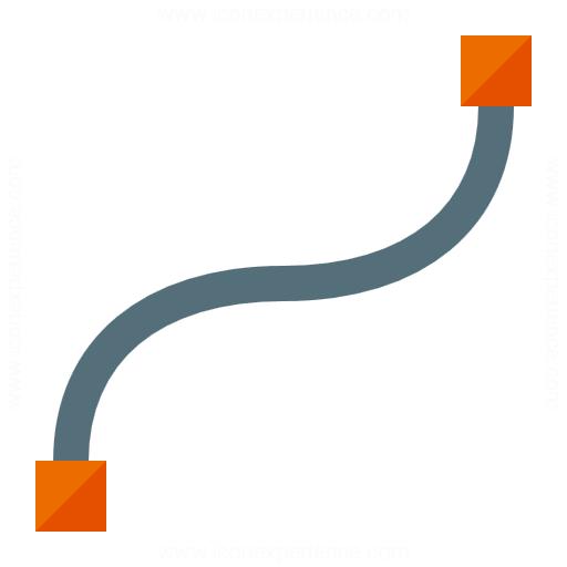 Vector Curve Cubic Icon