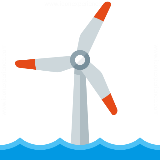 Wind Engine Offshore Icon